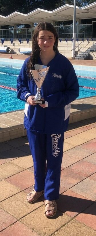 Riverside Swimit Swimmer of the year 2019 - Lily
